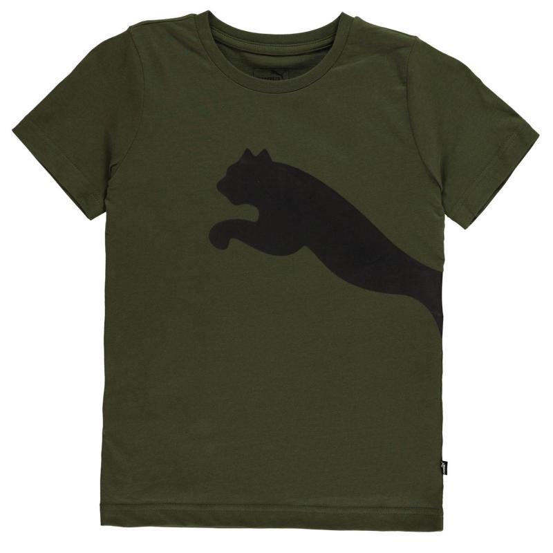 Tričko Puma Big Cat QT T Shirt Junior Boys Forest Night
