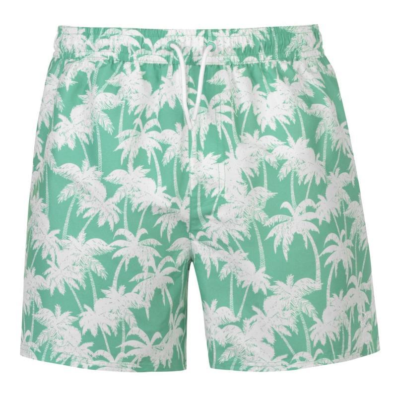 Plavky Hot Tuna Palm Print Shorts Mens Mint Grad