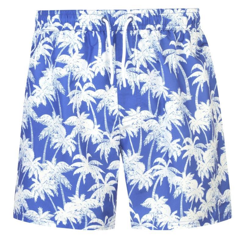 Hot Tuna Palm Print Shorts Mens Royal