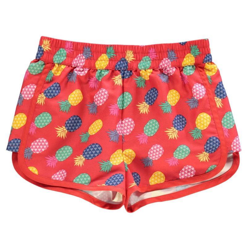 Hot Tuna Print Shorts Junior Girls Pineapple