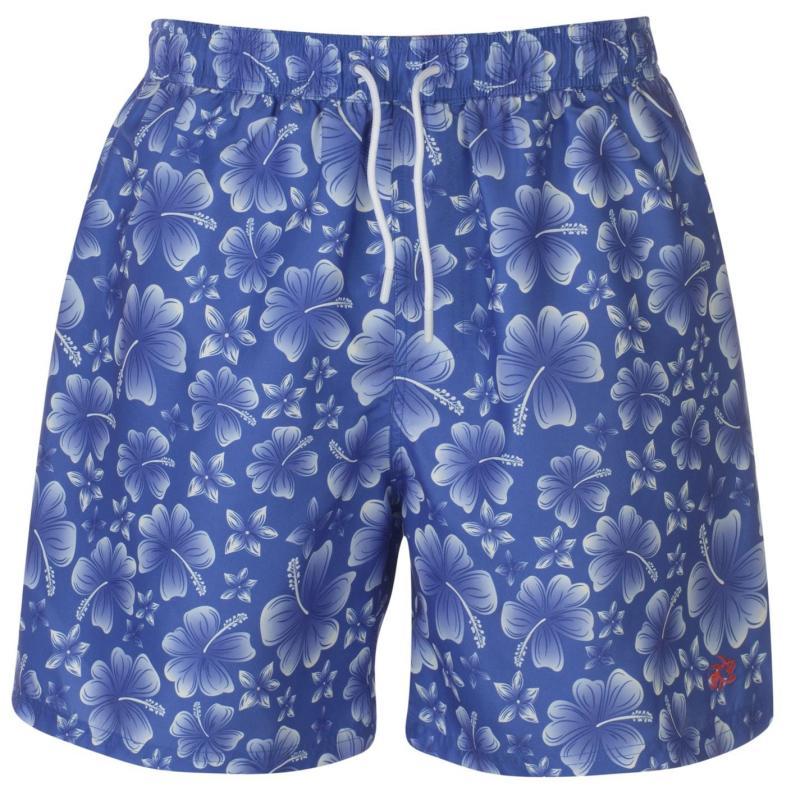 Plavky Hot Tuna Printed Shorts Mens Blue/White