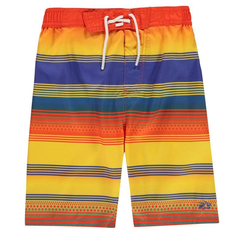 Plavky Hot Tuna Stripe Shorts Junior Boys Tanger/Blue