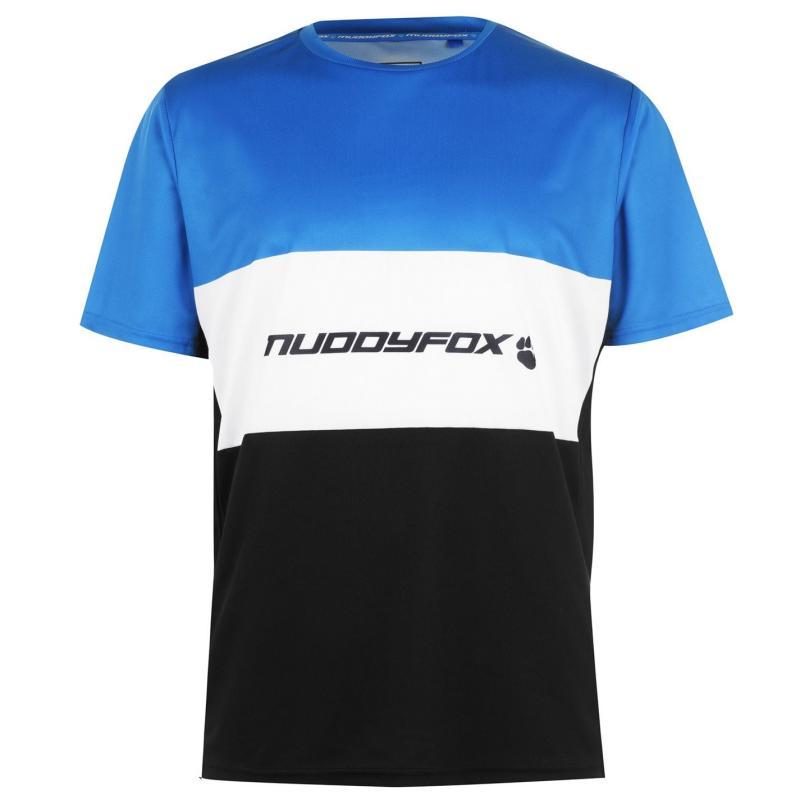 Muddyfox Moto Short Sleeve Jersey Mens Black/Blue