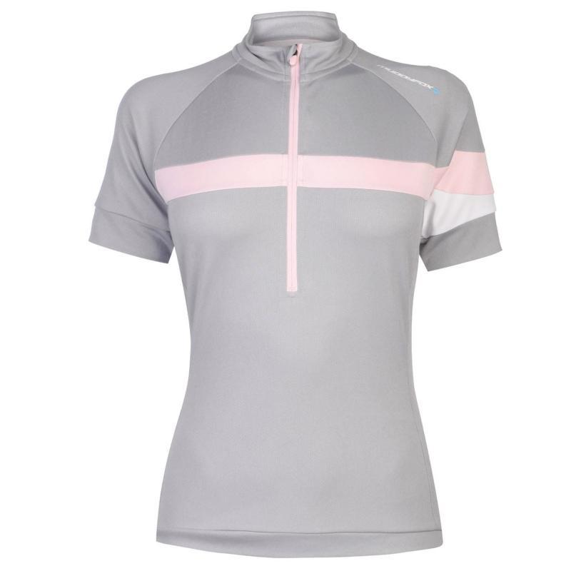 Muddyfox Pure Cycling Jersey Ladies Grey/Pink