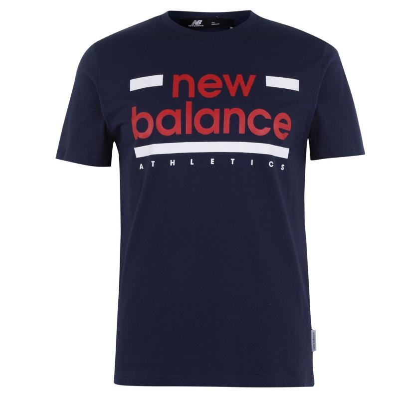 Tričko New Balance Mens Line T-Shirt Blue