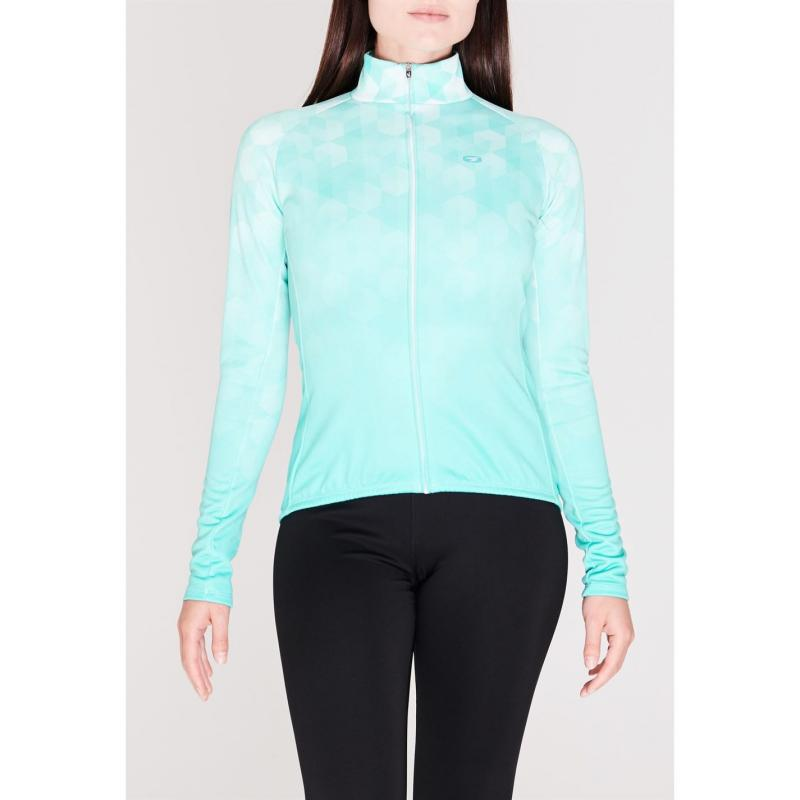 Sugoi Evolution Zap Long Sleeve Jersey Ladies Green .