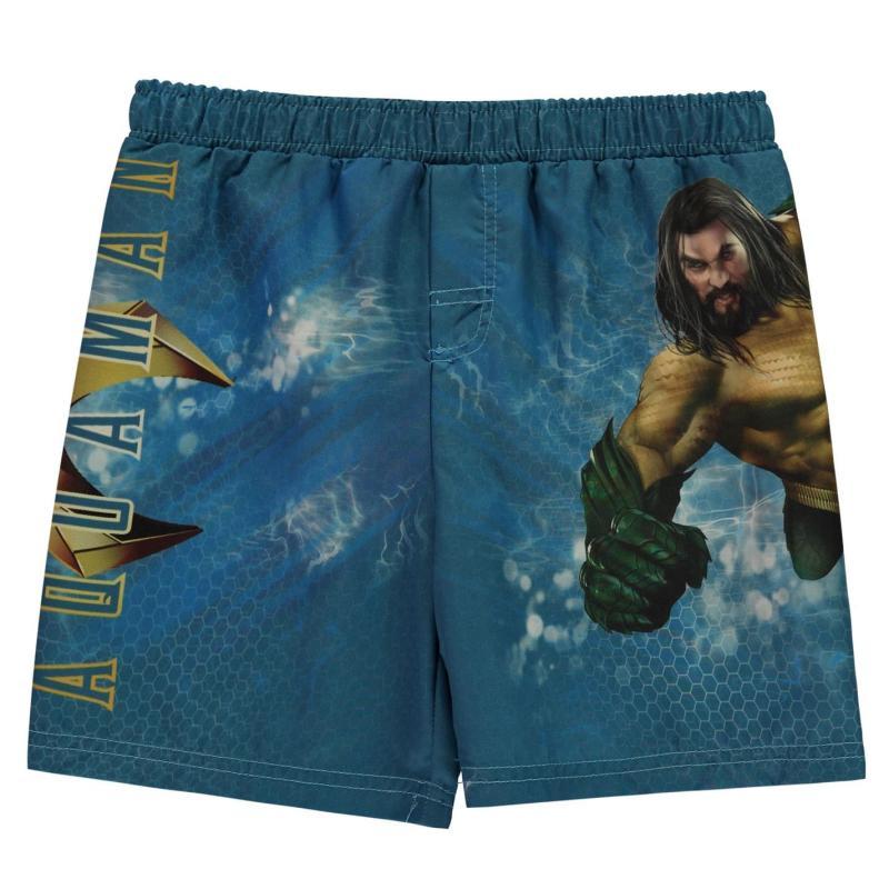 Plavky Character Board Shorts Infant Boys Aqua Man