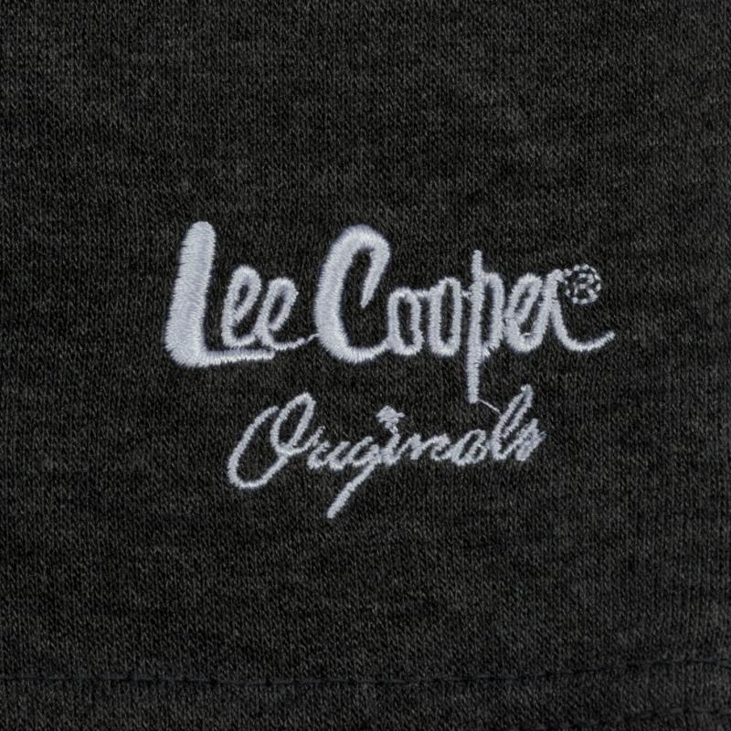 Lee Cooper Fleece Shorts Mens Grey Marl
