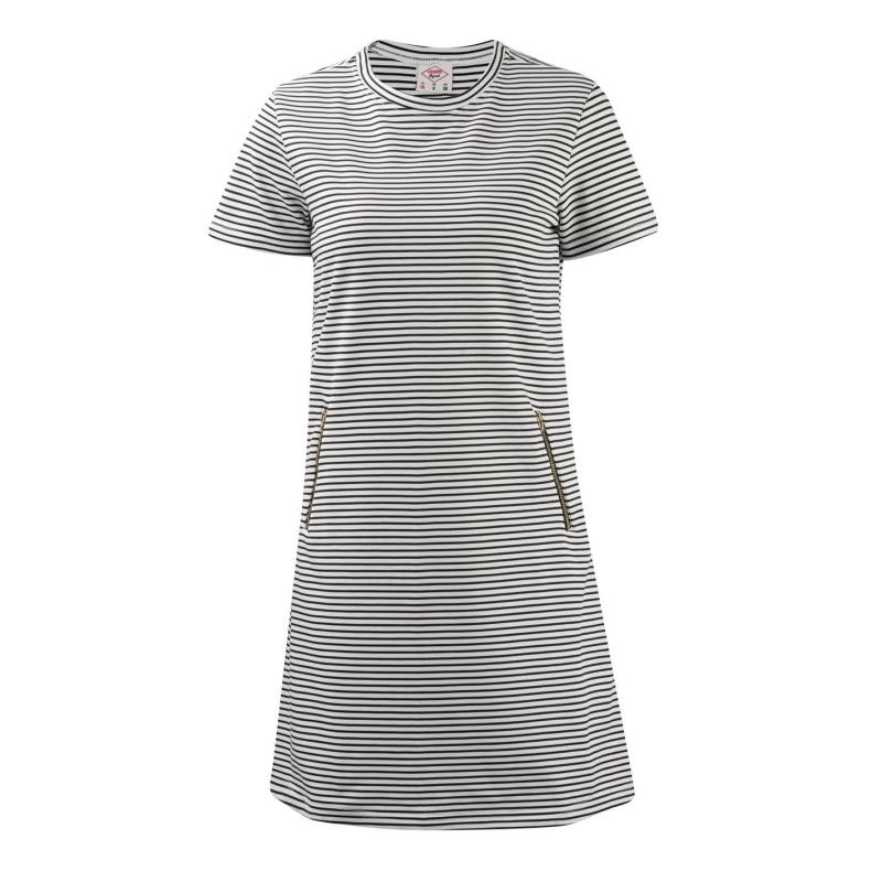 Svetr Lee Cooper Stripe Dress Ladies Black/White
