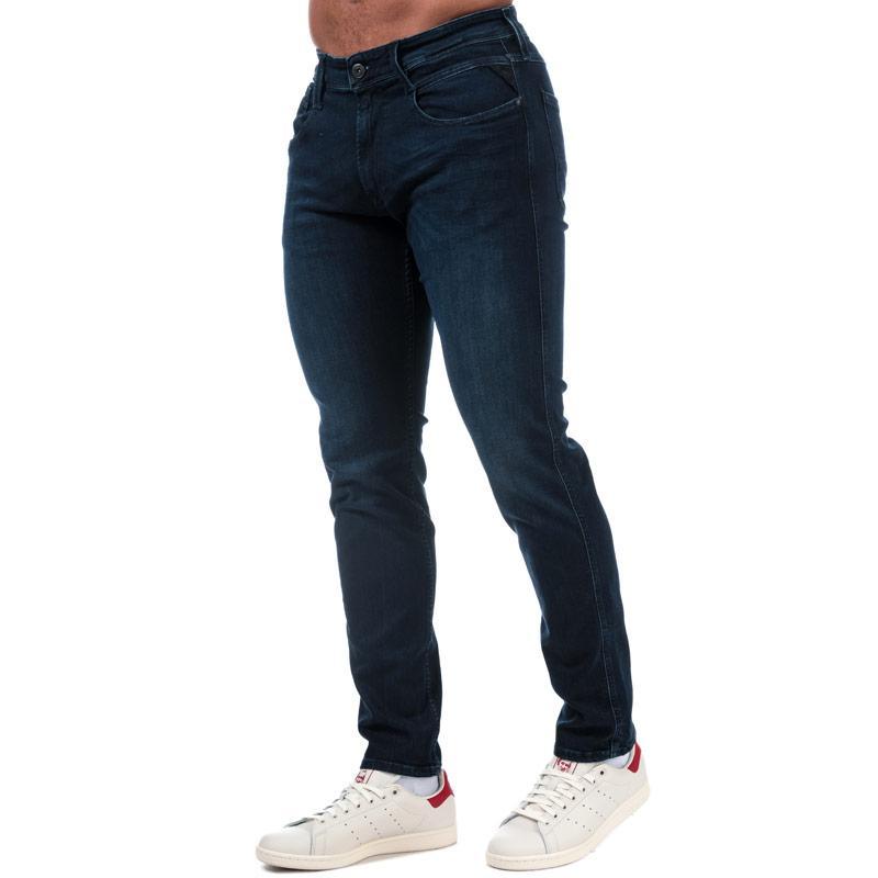 Replay Mens Anbass Slim Fit Jeans Denim
