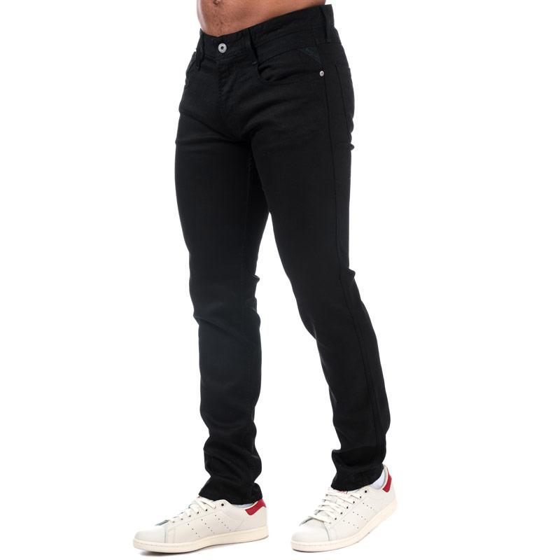 Replay Mens Anbass Slim Fit Jeans Black