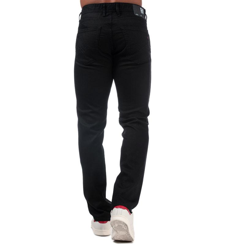 Replay Mens Grover Straight Fit Jeans Black