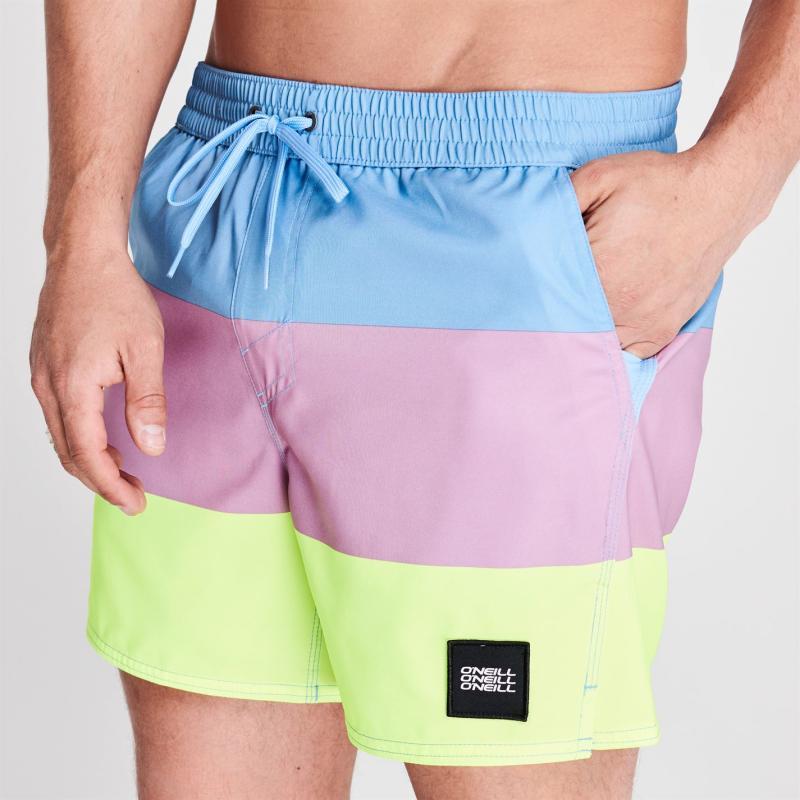 ONeill Mens Vert Horizon Board Shorts Blue/Yellow