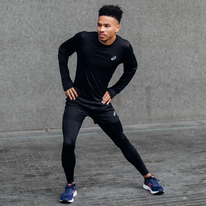 Asics Core Running Tights Mens Black