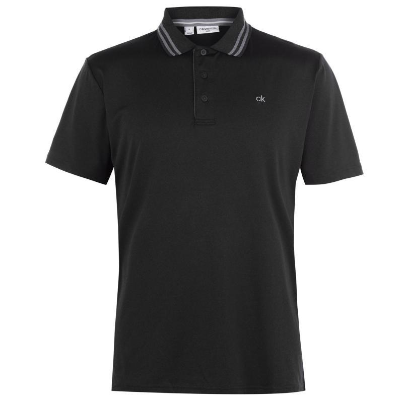 Calvin Klein Golf Madison Technical Golf Polo Charcoal Marl