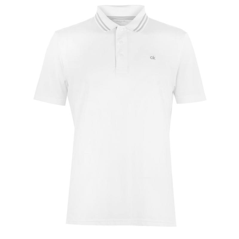 Calvin Klein Golf Madison Technical Golf Polo White