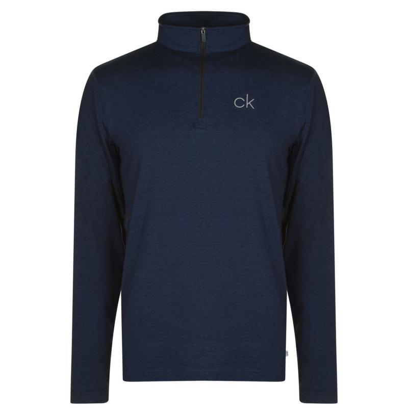 Calvin Klein Golf Newport Half Zip Golf Top Mens Navy Marl