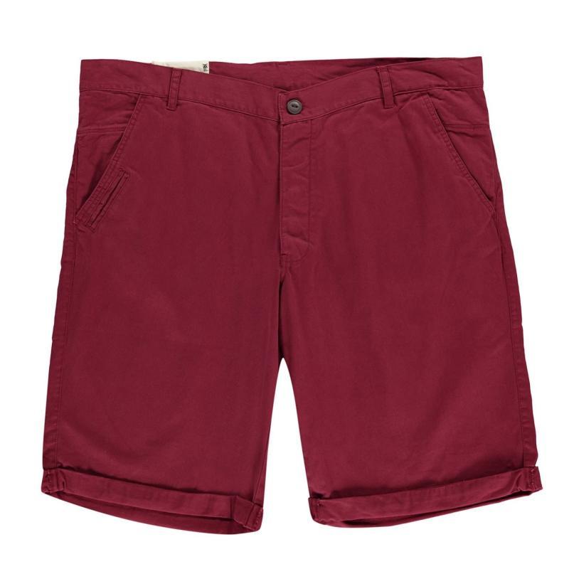 Fenchurch Plus Chino Shorts Burgundy