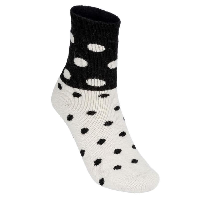 Ponožky Lee Cooper 2 Pack Spotty Socks Ladies White/Brown