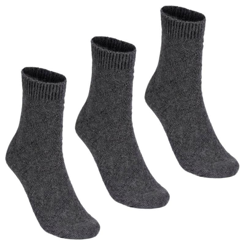 Ponožky Lee Cooper 3 Pack Plain Socks Ladies Grey