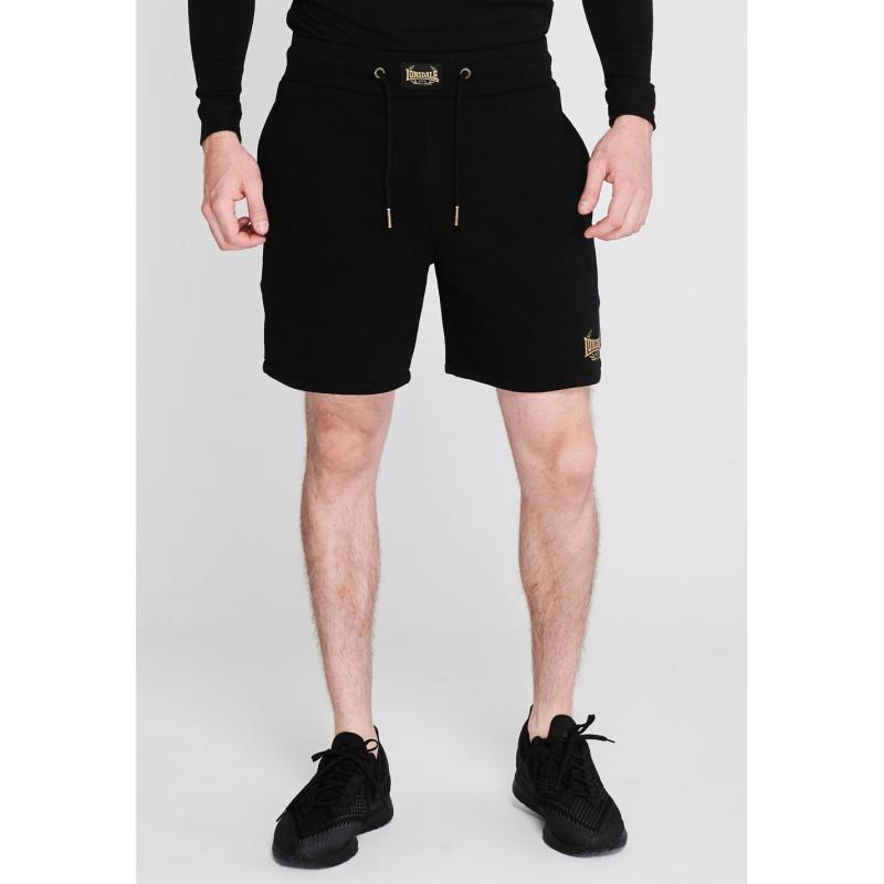 Lonsdale MTK Shorts Mens Black/Gold
