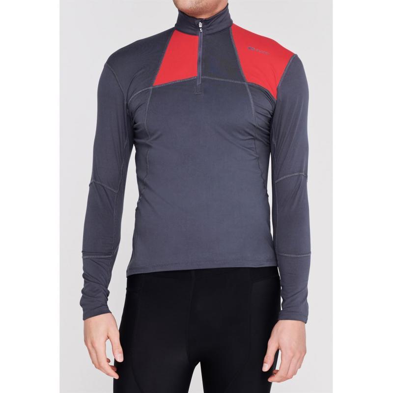 Tričko Sugoi Titan Core Zip Top Mens Coal Blue