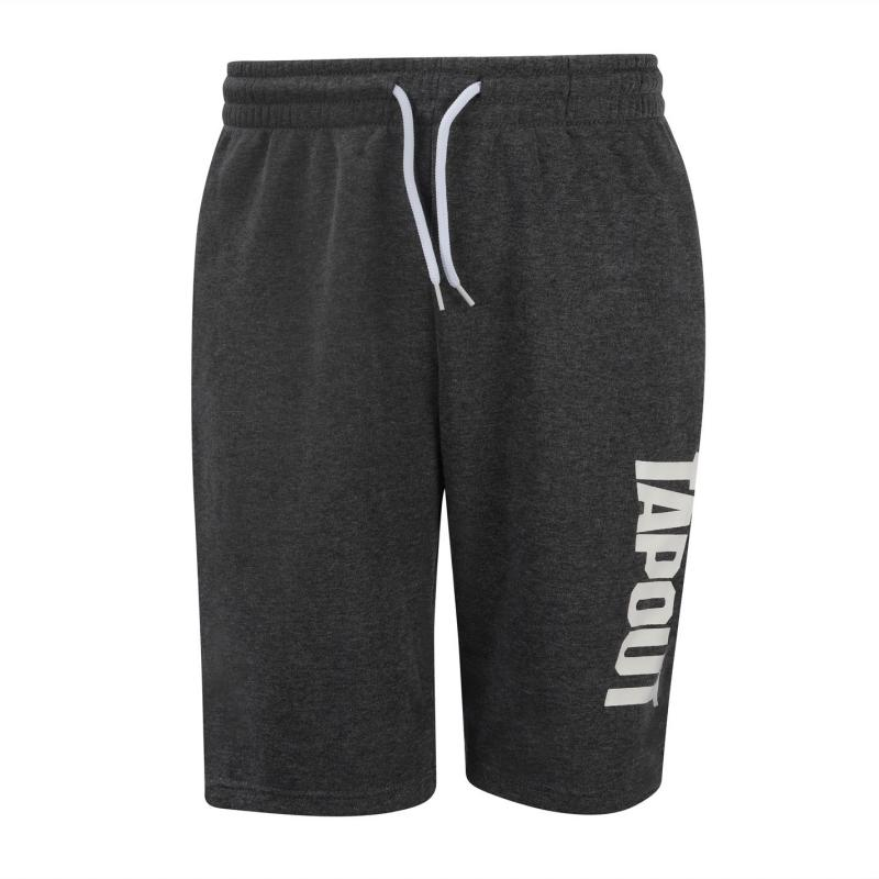 Tapout Fleece Shorts Mens Charcoal