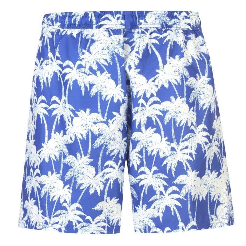 Plavky Hot Tuna Palm Print Shorts Mens Royal