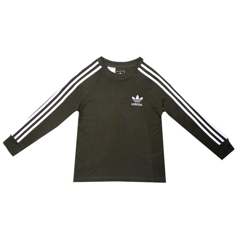 Tričko Adidas Originals Junior Boys California LS T-Shirt Khaki