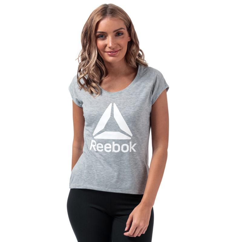 Reebok Womens Workout Supremium 2.0 T-Shirt Grey Marl