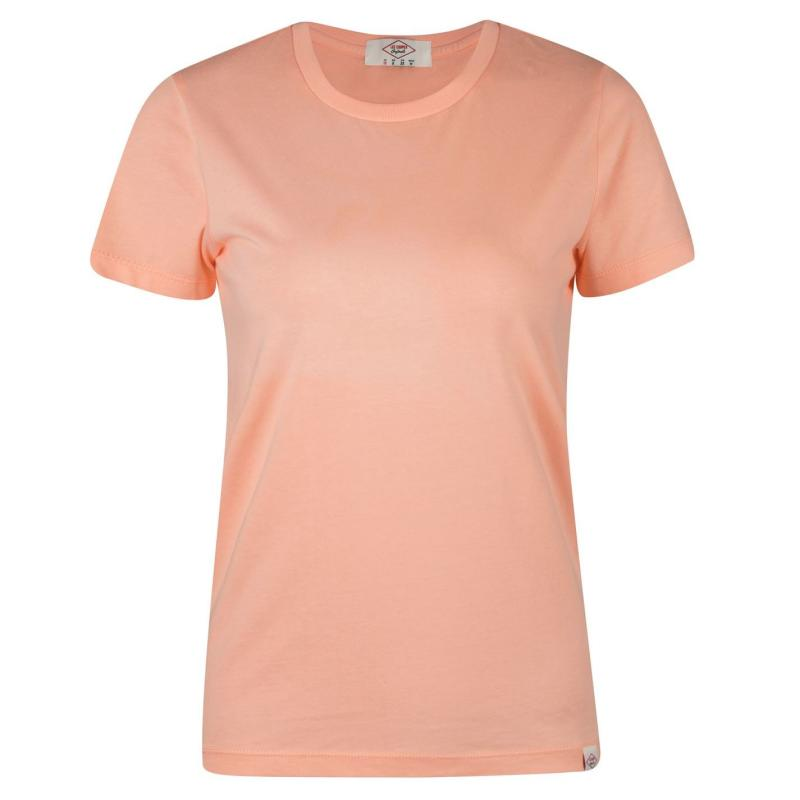Lee Cooper Brush Cotton T Shirt Ladies Coral
