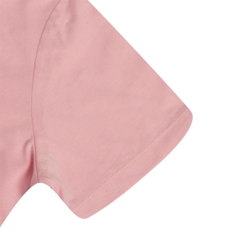 Lee Cooper Brush Cotton T Shirt Ladies Coral