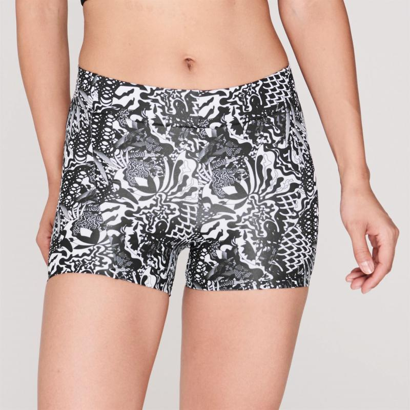 Sugoi Coast Boy Shorts Ladies Black/Floral