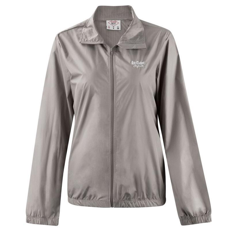 Lee Cooper Waterproof Jacket Ladies Chk Grey