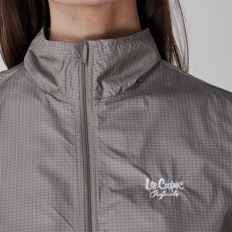 Lee Cooper Waterproof Jacket Ladies Chk Grey