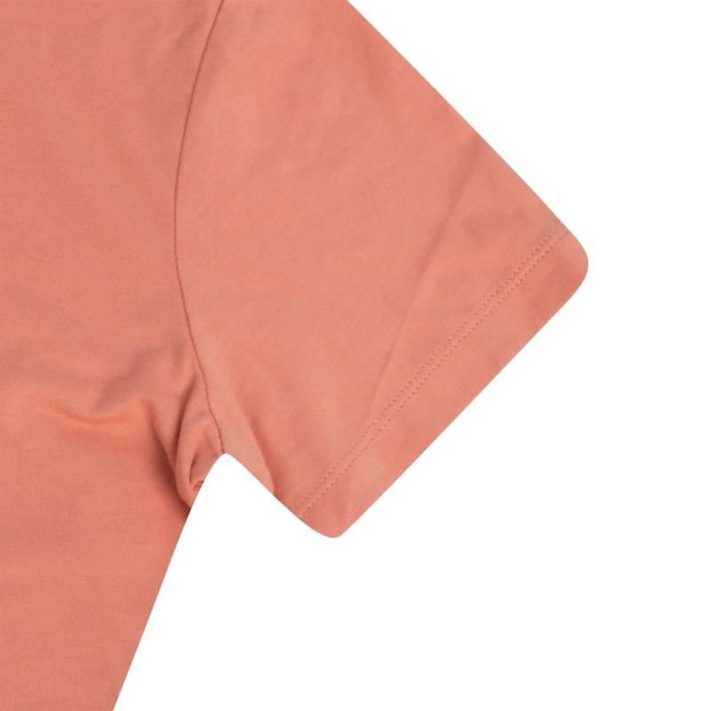 Lee Cooper Brush Cotton T Shirt Ladies Light Coral
