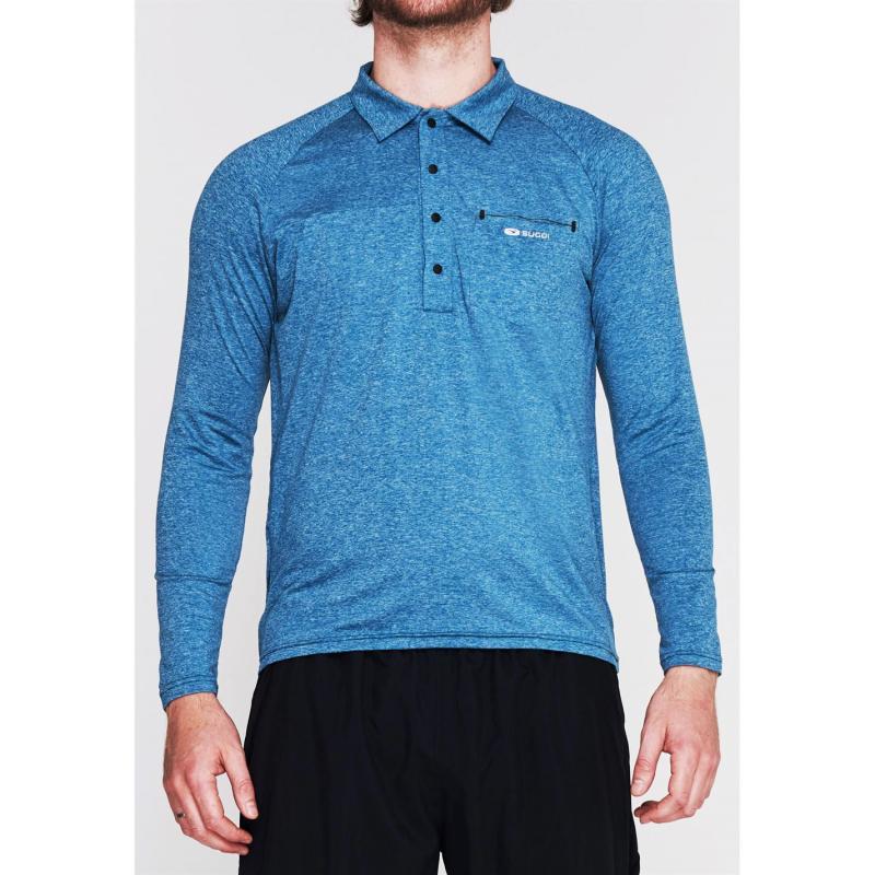 Sugoi Coast Long Sleeve T Shirt Mens Blue Titanium2