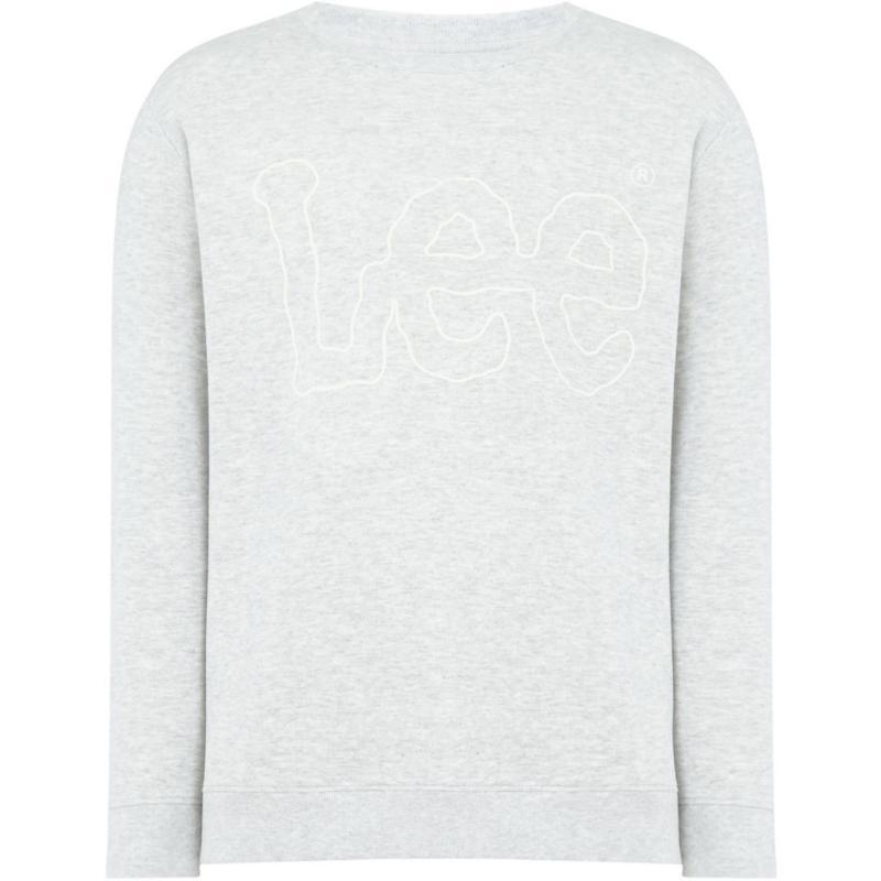 Mikina Lee Outline logo crew neck sweatshirt