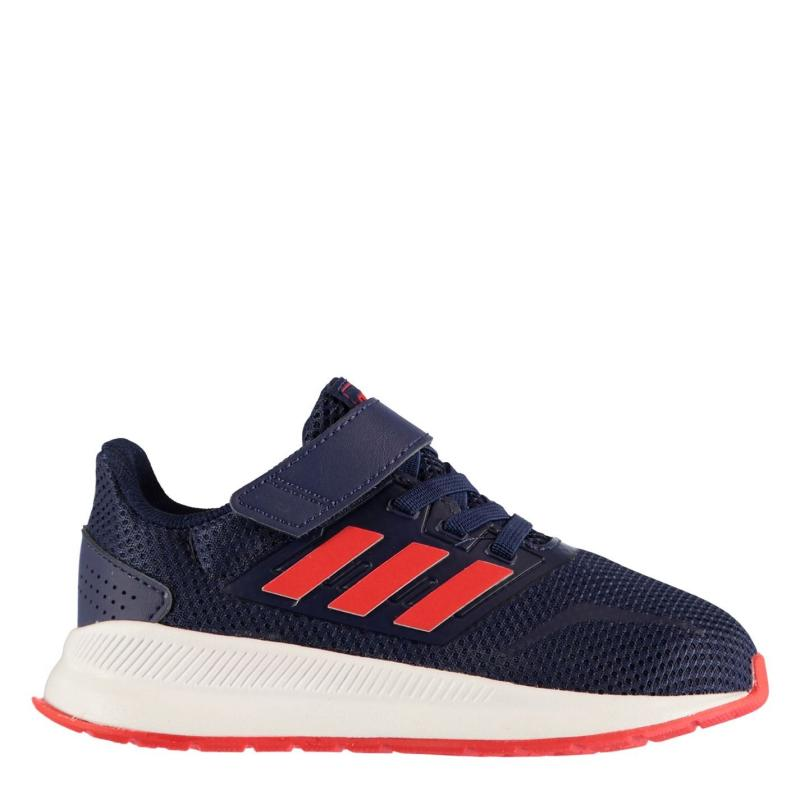 Boty adidas Falcon CloudFoam Infant Boys Trainers Navy/Red/White