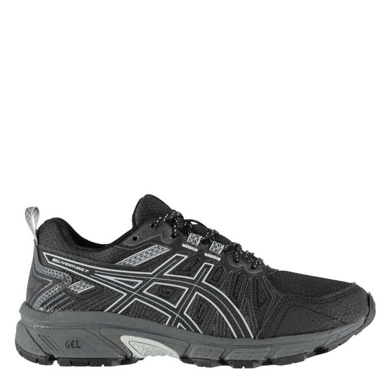 Asics GEL Venture 7 Ladies Trail Running Shoes Black/Grey