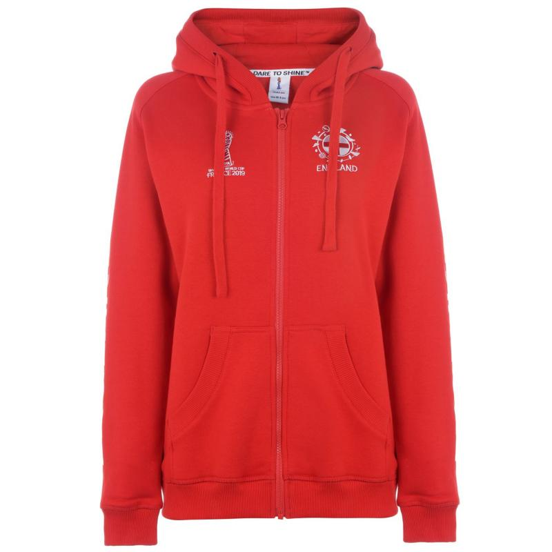 Mikina FIFA Womens World Cup England Hoodie Ladies Red Velikost - 8 (XS)