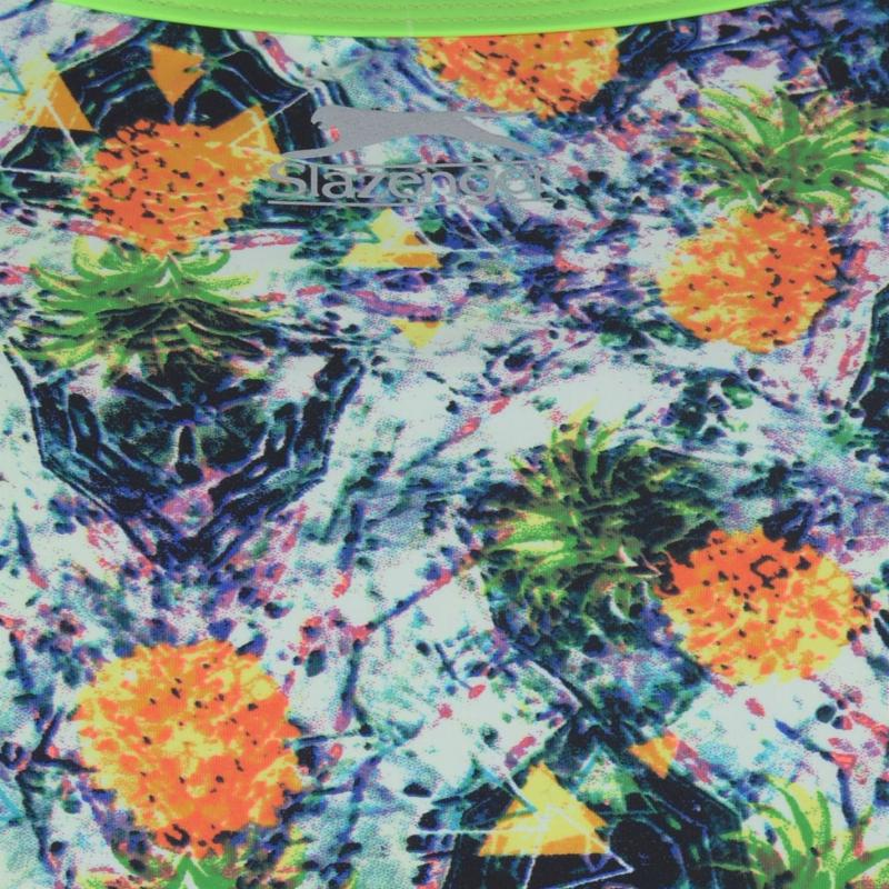 Plavky Slazenger Thin Strap Swimsuit Ladies Pineapple