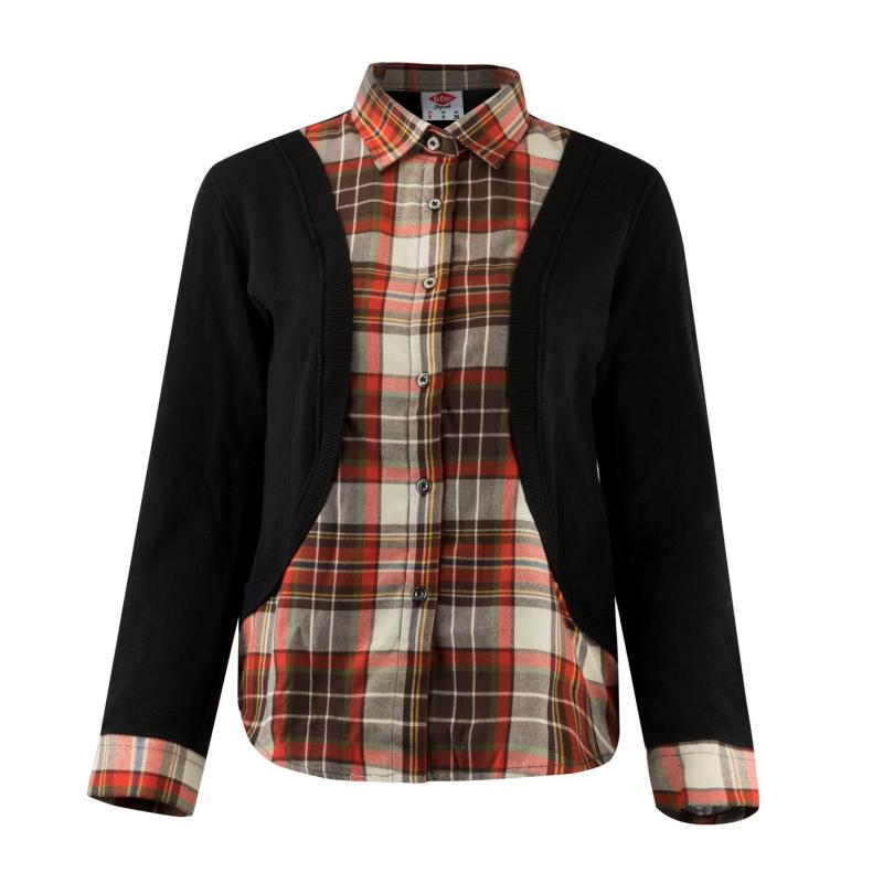 Košile Lee Cooper Check Shirt and Cardigan Ladies Red/Check