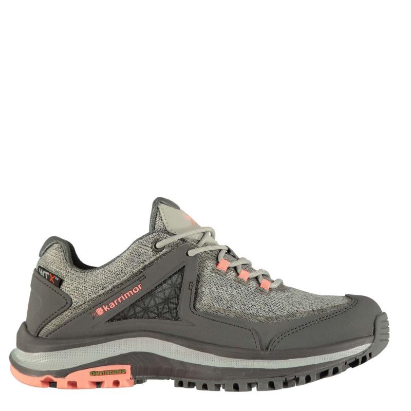 Boty Karrimor Stanedge Trainers Ladies Grey/Coral