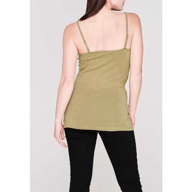 Miso Cami Vest Ladies Khaki