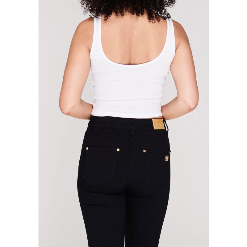 Miso Rib Crop Vest Ladies White Velikost - 12 (M)