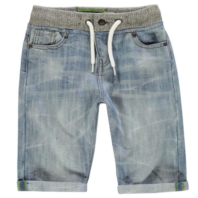 Kraťasy No Fear Denim Shorts Bleached Wash
