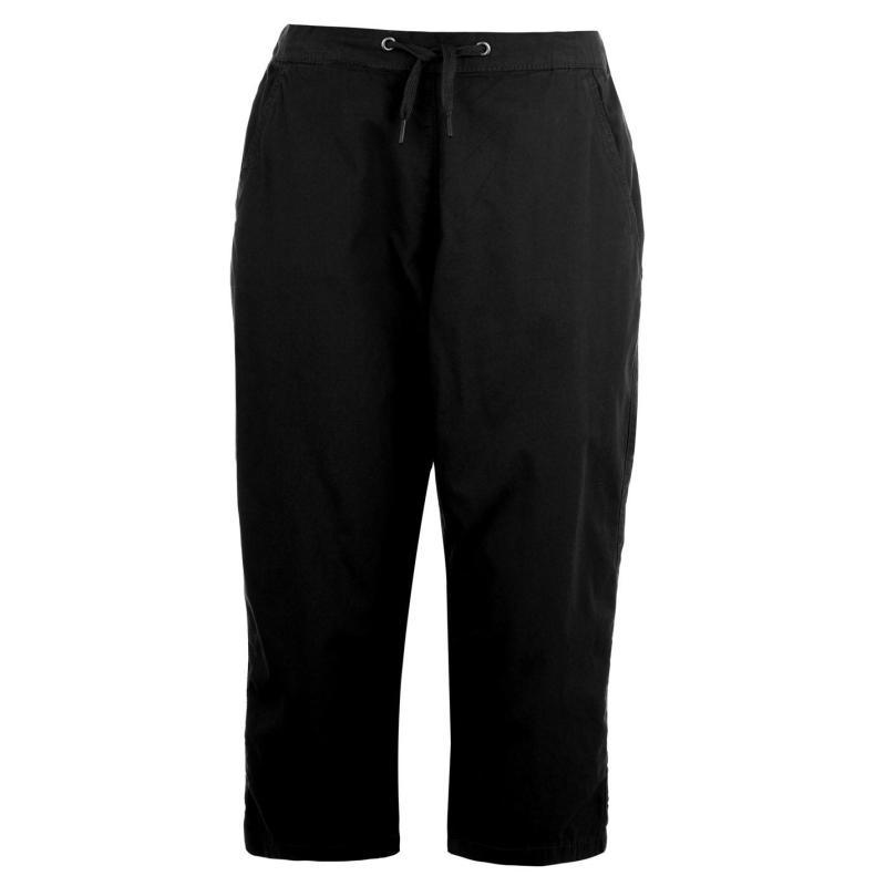 Rock and Rags Poplin Crop Trousers Ladies Black