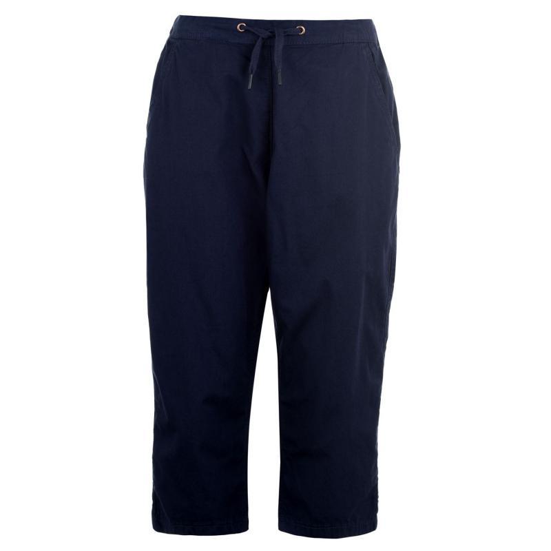 Rock and Rags Poplin Crop Trousers Ladies Navy