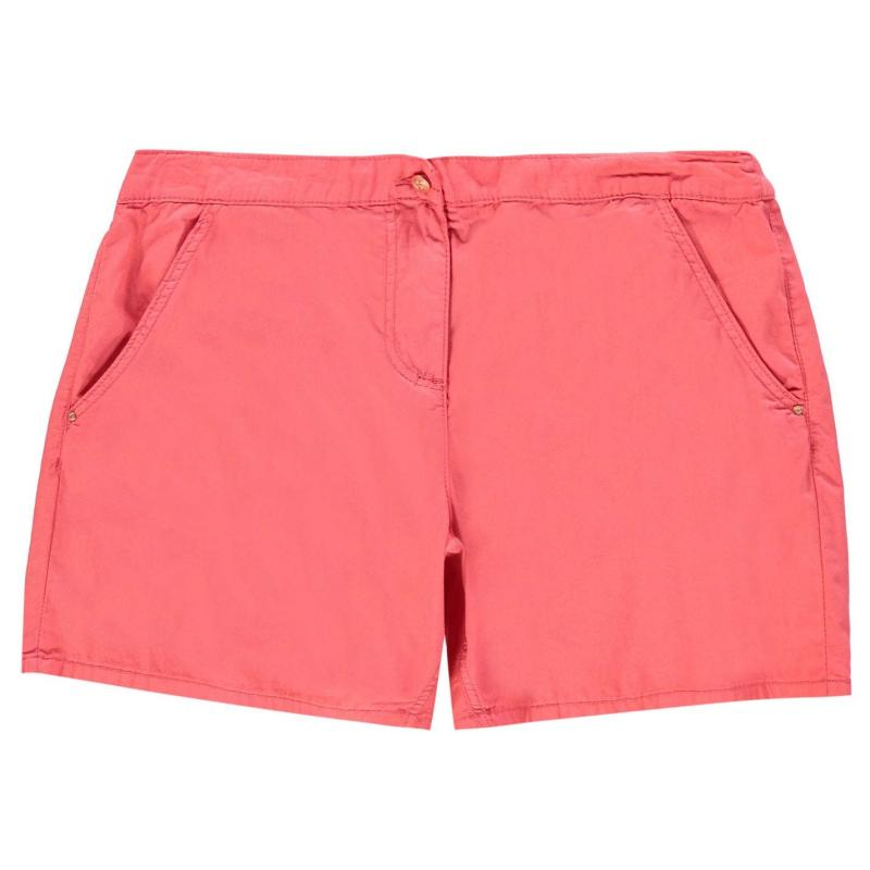 Rock and Rags Poplin Shorts Ladies Coral